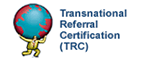 Logo of the Transnational Referral Certification (TRC) for real estate agents